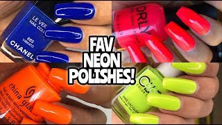 FAV NEON NAIL POLISHES! China Glaze, Color Club, Louboutin, Orly