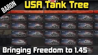 War Thunder - New American Tanks Coming in Patch 1.45!  (American Tank Tech Tree Release!)