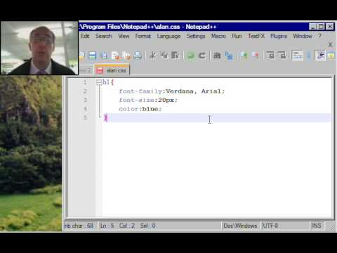 how to create css in notepad++