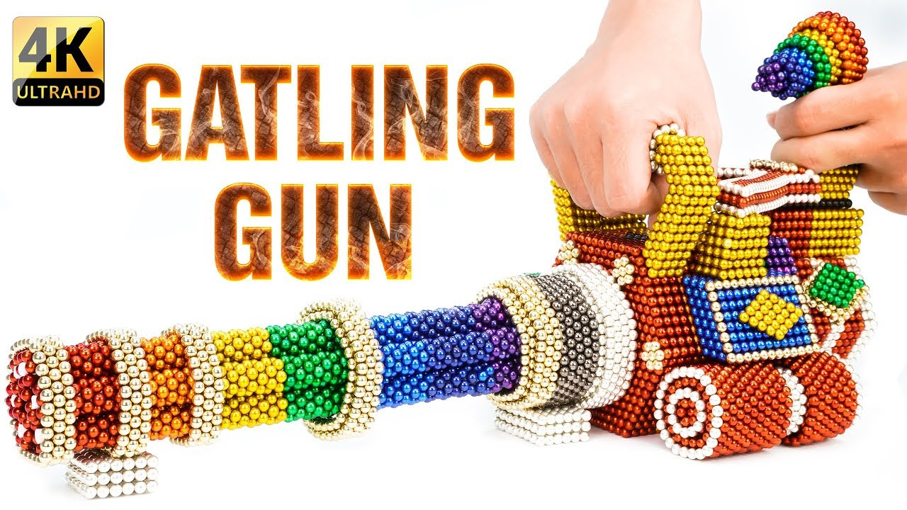 DIY - How To Build Rainbow PUBG Gatling Gun With Magnetic Balls - 100% Satisfaction - Magnet Ballls.