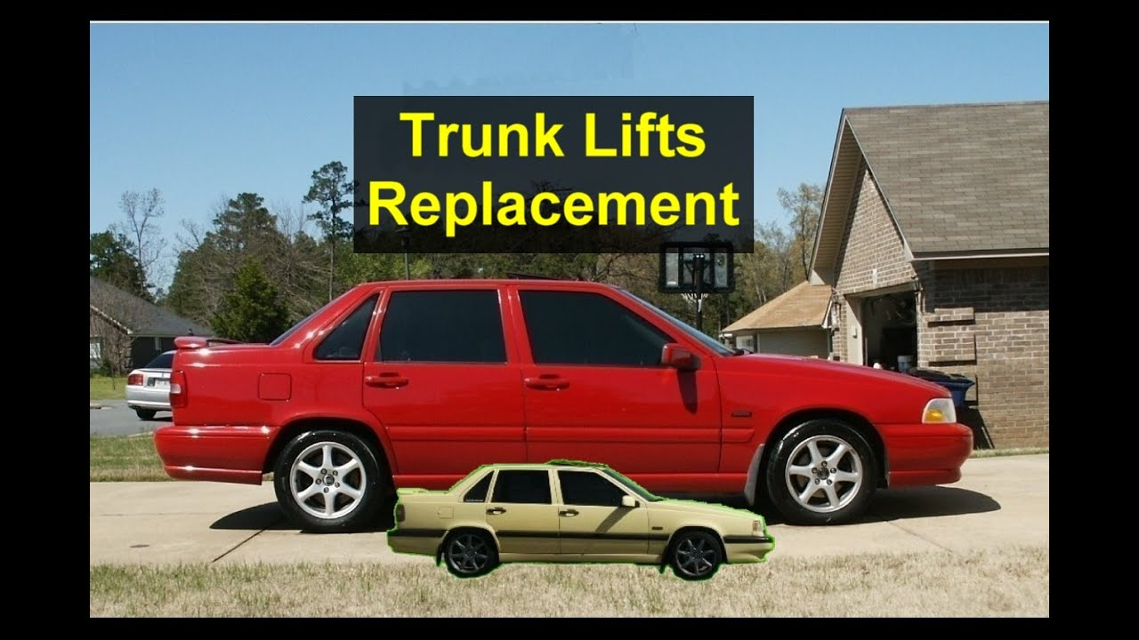 Trunk heavy and hard to open, lifts worn out, replacement, Volvo S70, 850, etc. - VOTD - YouTube