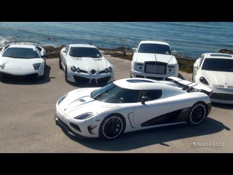 White Supercar Ocean Invasion