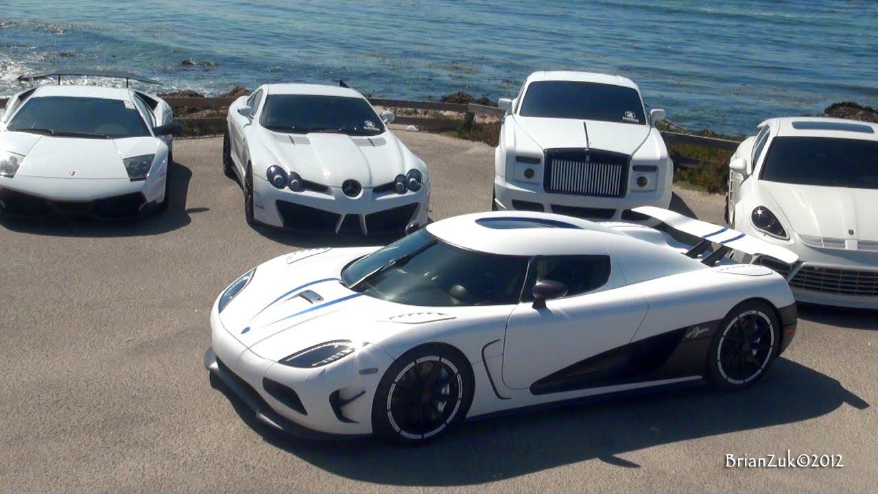 White Supercar Ocean Invasion Youtube