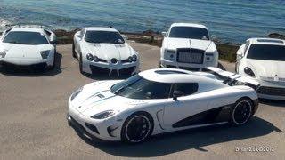 White Supercar Ocean Invasion