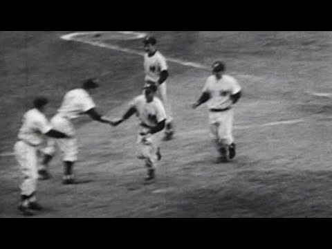 WS1956 Gm3: Slaughter connects for a three-run homer