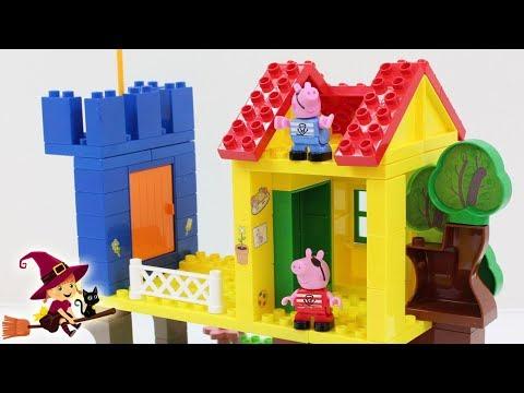 La Casa del Árbol de Peppa Pig 🏩 5 Videos de Bloques de Construcciones