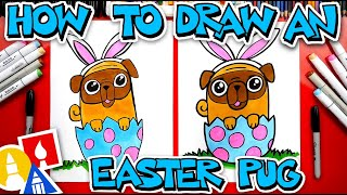 How To Draw An Easter Pug Bunny #stayhome and draw #withme