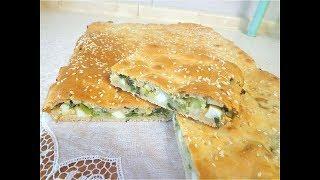 Быстрый пирог с яйцами и зеленым луком. Дешево и вкусно!