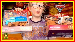 Crazy 8 Crashers Cars Arvy and Mr Drippy Thunder Hollow Cars 3 Toys Review