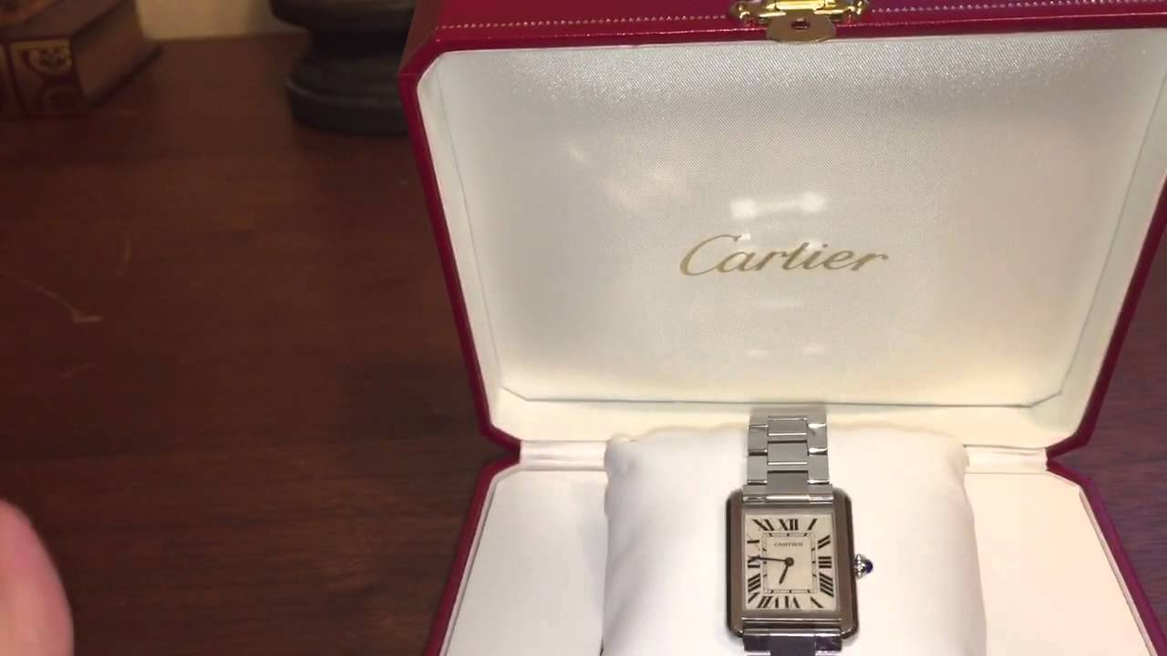 bab0c0f184b Cartier Tank Solo Watch Review - YouTube