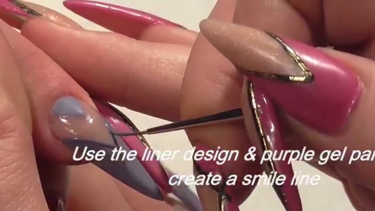 Knitted salon nail art design by hazel dixon youtube prinsesfo Choice Image