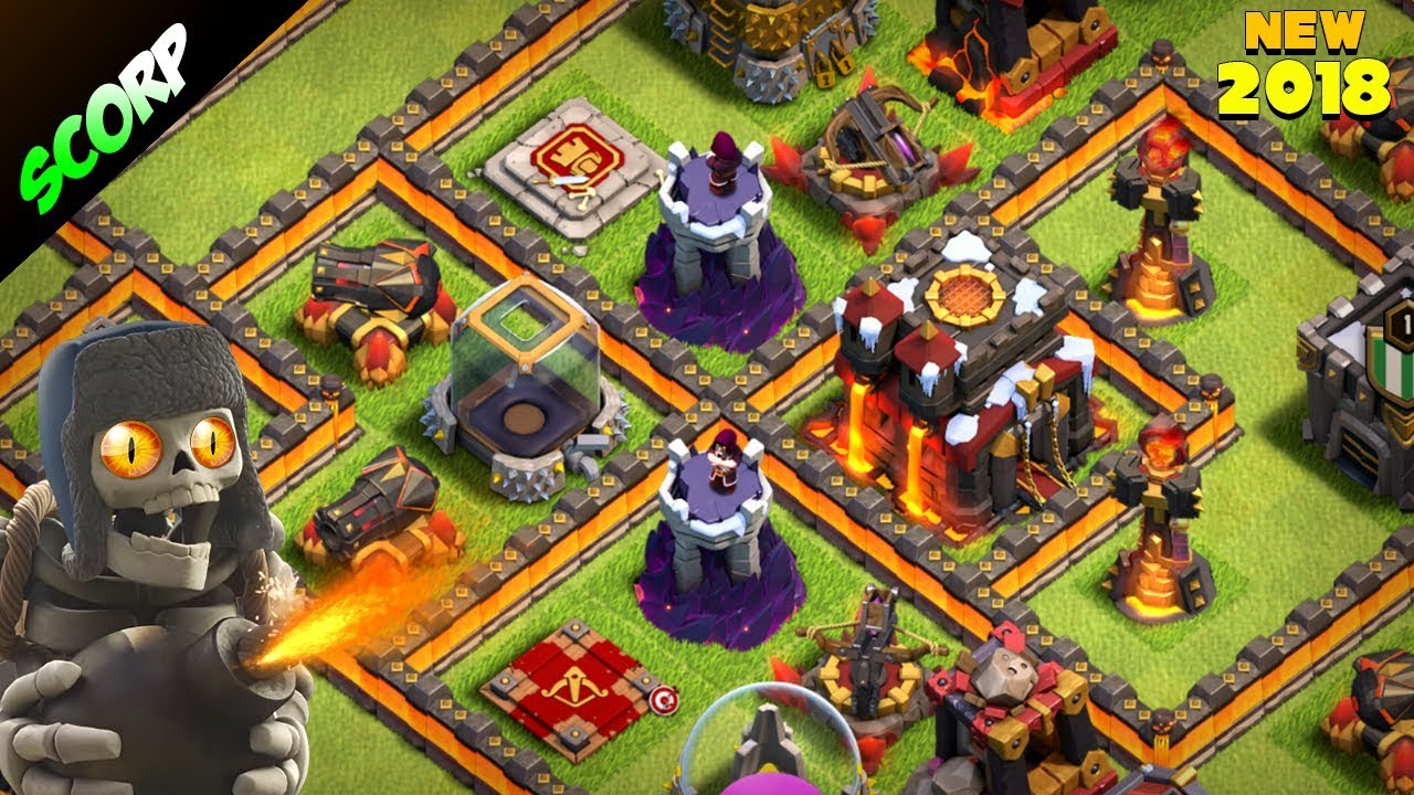 Th10 Trophy Base 2018 Town Hall 10 Base Anti 2 Star Replays