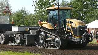 CAT Challenger MT765C Pulling The Heavy Sledge at Aabybro Pulling Arena | Tractor Pulling Denmark