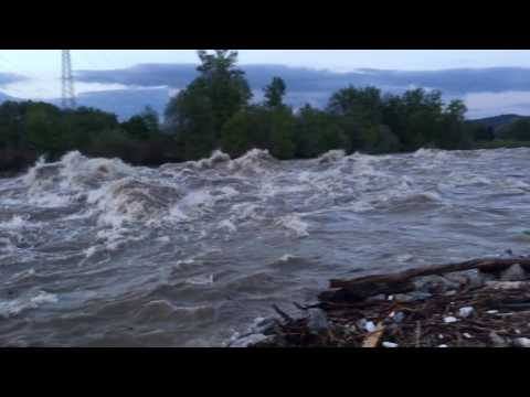 Turbolent Sava River, 28.04.2017