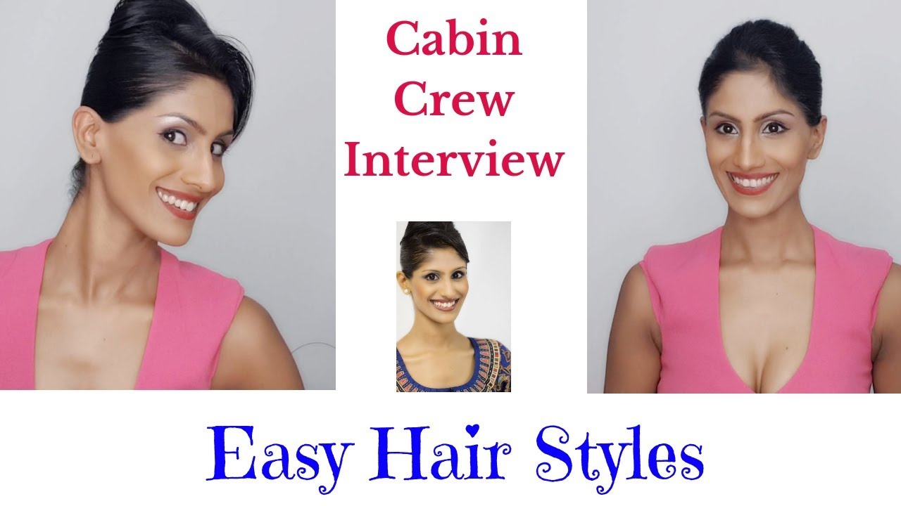 hairstyles for interview / cabin crew / flight attendant / singapore  airlines