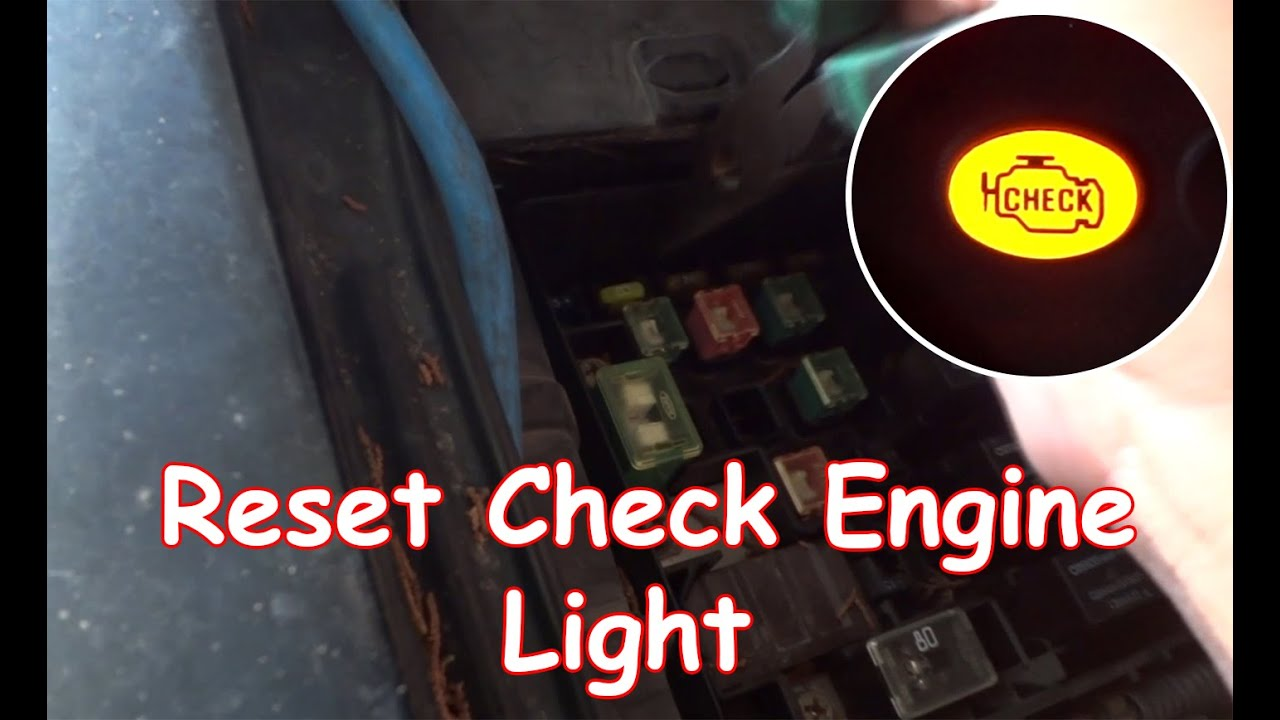 DIY: Reset Check Engine Light Without OBDII Reader   YouTube