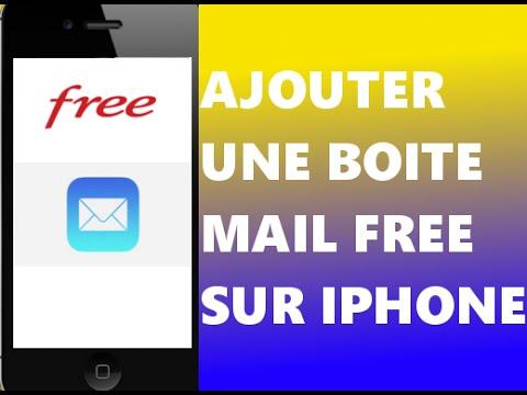 Ajouter une boite mail free sur iphone