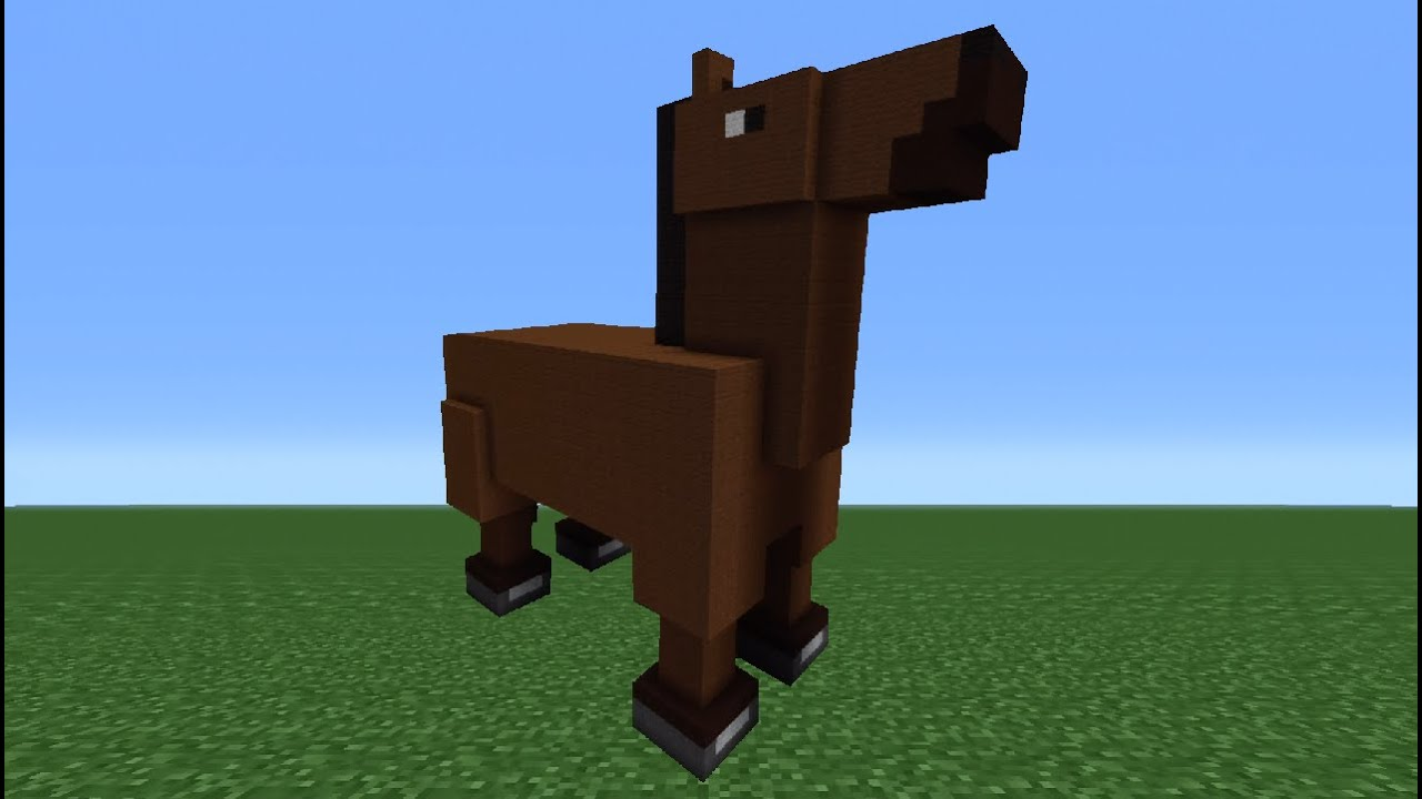 Minecraft tutorial how to make a horse statue youtube for How to make a horseshoe