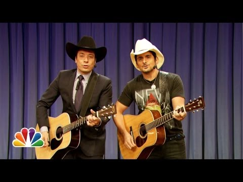 Jimmy Fallon & Brad Paisley Sing Balls In Your Mouth Late Night with Jimmy Fallon