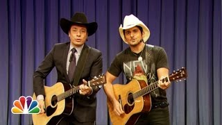 jimmy fallon brad paisley sing balls in your mouth late night with jimmy fallon
