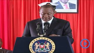 President Kenyatta's speech at the release of Report on Administration of Justice 2017/18