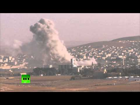 RAW: US-led coalition airstrikes target ISIS near Kobani