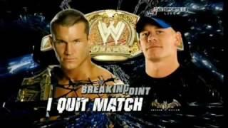 WWE Breaking Point John Cena vs Randy Orton Highlights