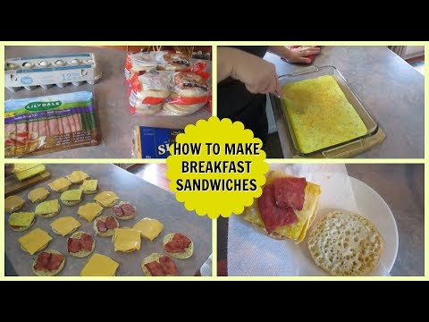 How To Make Freezer Breakfast Sandwiches & How To Reheat Them