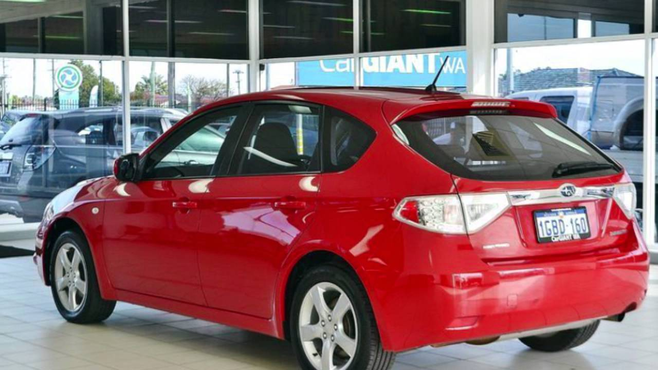 2010 subaru impreza my10 r awd red 5 speed manual hatchback youtube. Black Bedroom Furniture Sets. Home Design Ideas