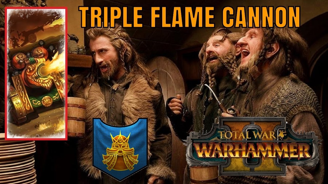THE TRIPLE FLAME CANNON | Dwarfs vs Wood Elves - Total War Warhammer 2