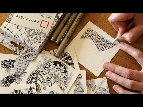 How to Draw the Zentangle® Tangle 'Pea-Nuckle'