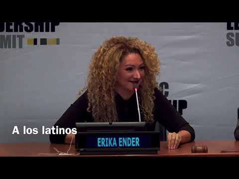ERIKA ENDER speaks at the United Nations Hispanic Leadership Summit