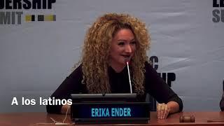 ERIKA ENDER speaks at the United Nations Hispanic Leadership Summit