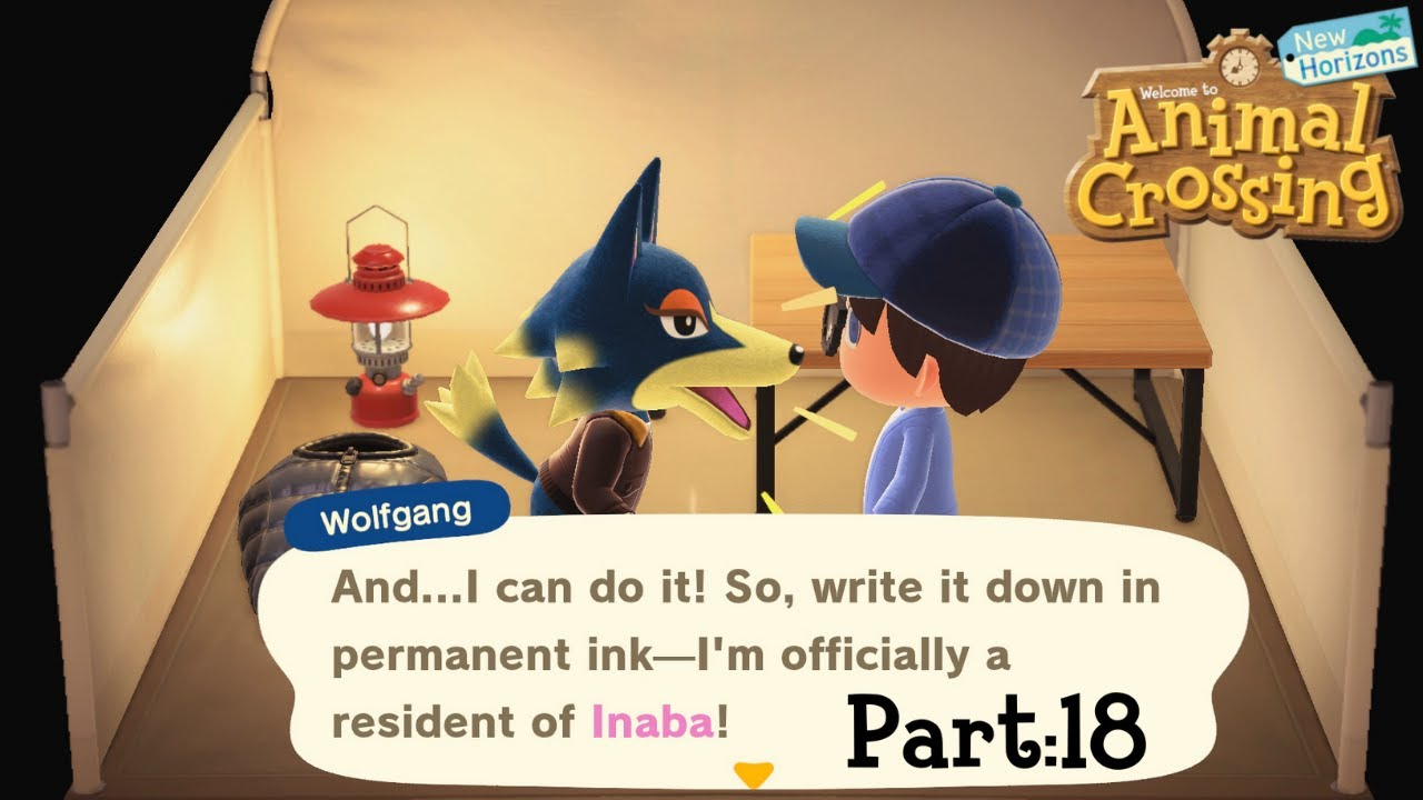 Animal Crossing New Horizons Part 18 Wolfgang Moves In Youtube