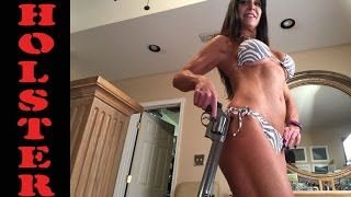 Smith & Wesson 500 Almost 50 year old Farm Girl talks concealed carry and holsters... bikini.