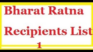 Bharat Ratna Recipients List 1