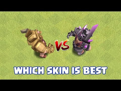 GLADIATOR SKIN VS PEKKA SKIN | WHICH KING's SKIN IS BEST | CLASH OF CLANS |