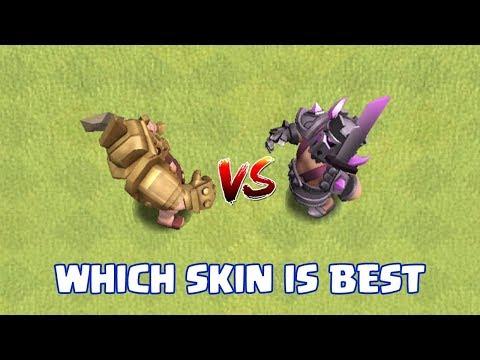 GLADIATOR SKIN VS PEKKA SKIN | WHICH KING's SKIN IS BEST | CLASH OF CLANS |
