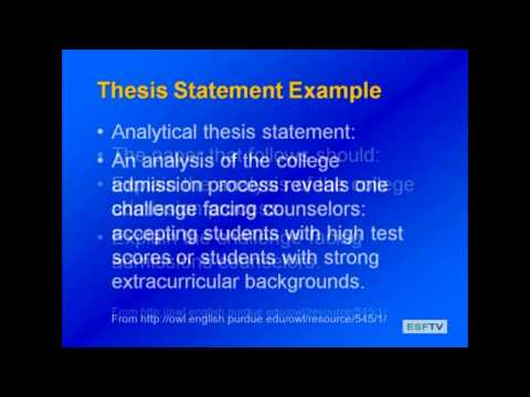 Library 411 - Research Papers- Thesis Statements