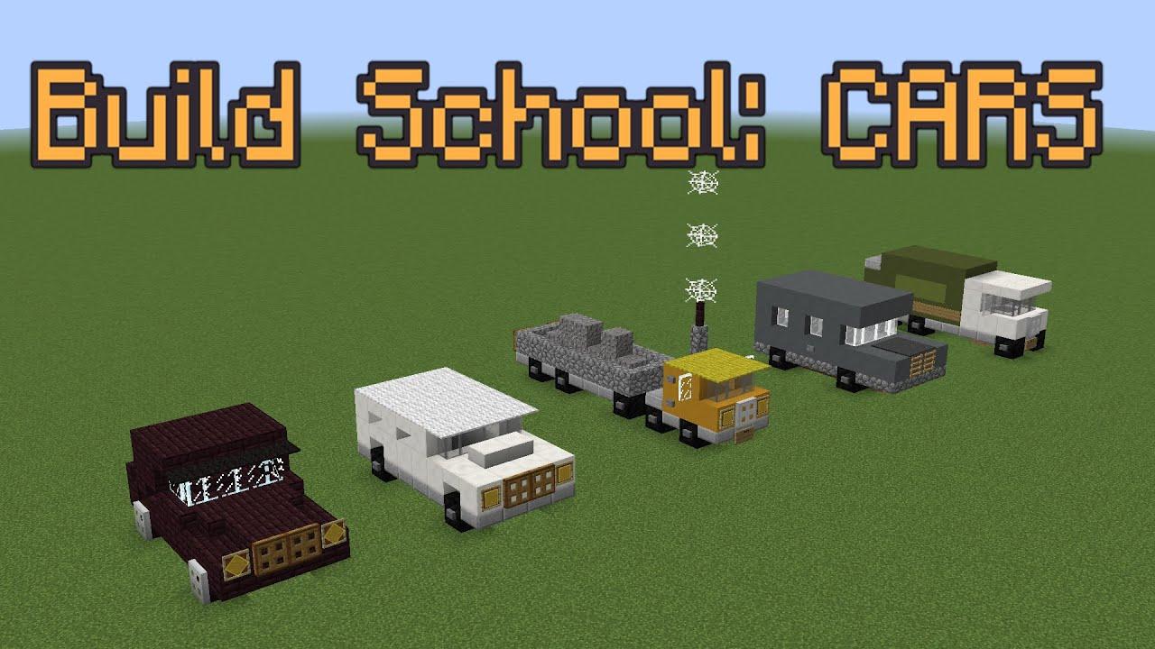 Minecraft Build School Cars Youtube