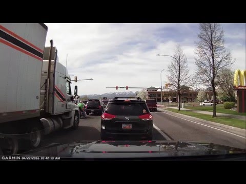 Bad Utah drivers - MBM trucking - Driver trying to intimidate me