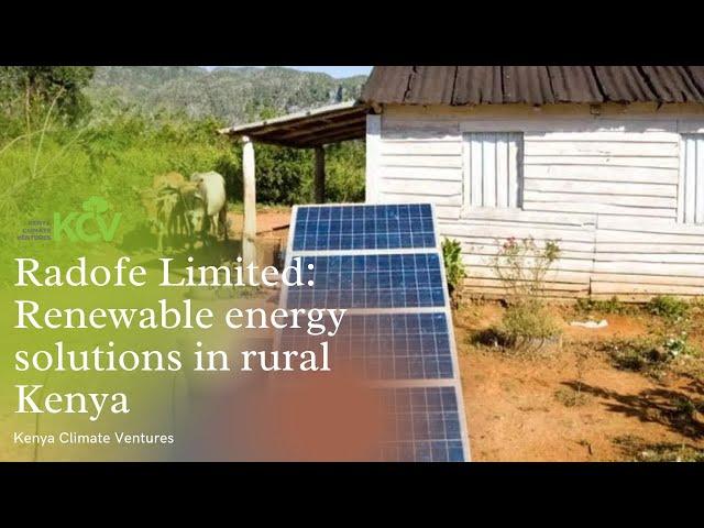Renewable energy solutions for rural households   Kenya Climate Ventures