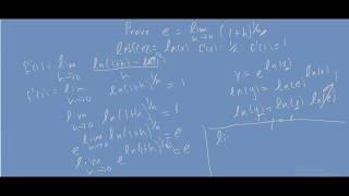 e = lim h-0 (1+h)^1/h