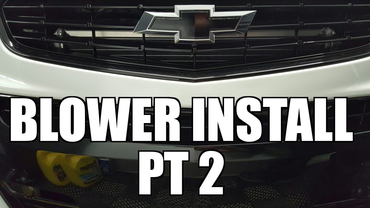 2014 Chevy SS - Supercharging the SS Pt 7 - Blower Install Part II