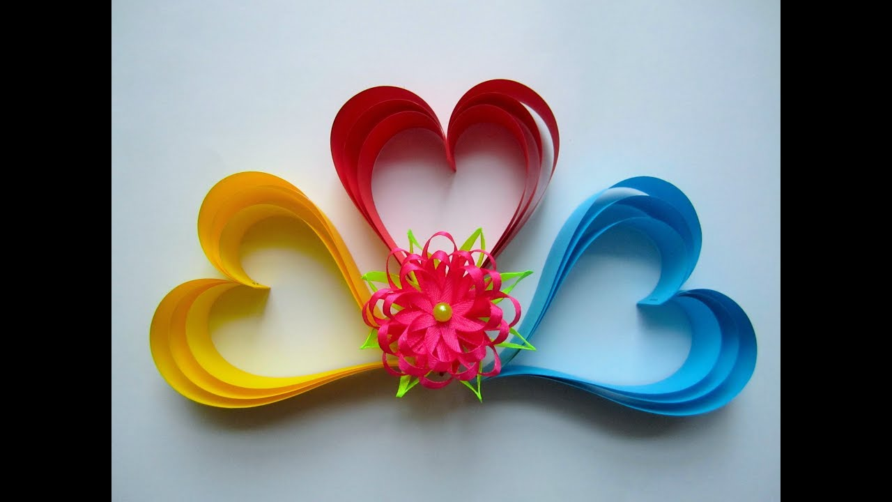 Heart Made Of Paper Strips Herz Aus Papierstreifen Diy Youtube