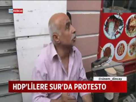 HDP'LİLERE SUR'DA PROTESTO