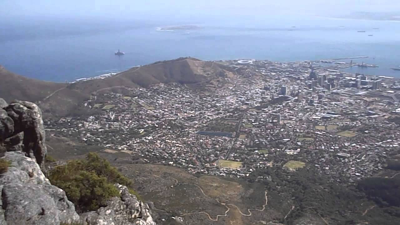 a view from the top of table mountain youtube