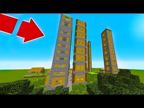 🏘️ BU YÜKSEK KÖYDE KİM YAŞIYOR  Minecraft 🏙️