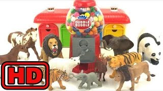 Kid -Kids -GIANT DUBBLE BUBBLE GUMBALL MACHINE Bubble Gum /ZOO Animals Eating Gumballs turning to G