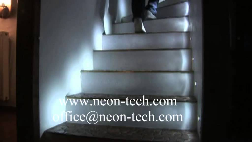 Indoor led stair lights with sensor led stair lighting - Interior stair lighting ideas ...